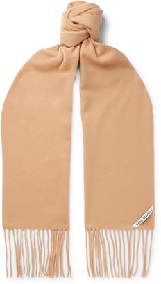 Acne Studios Fringed Wool Scarf - Brown