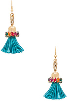 Anton Heunis Tassel Earring in Metallic Gold.