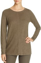 Eileen Fisher Organic Cotton Blend Heathered Top