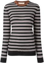 Marni striped crew neck jumper - women - Cashmere/Polyamide - 40