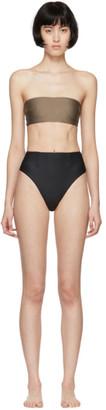 Haight Black and Taupe Marcella Bikini
