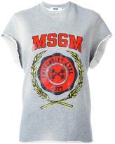 MSGM logo sweatshirt - women - Viscose/Cotton - S