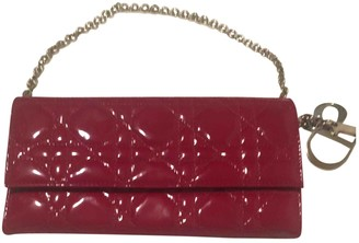 Christian Dior Red Patent leather Clutch bags