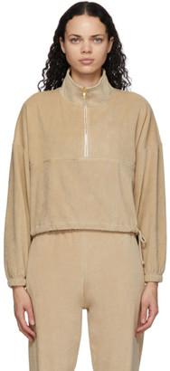 Gil Rodriguez Tan Velour Diana Half-Zip Sweatshirt