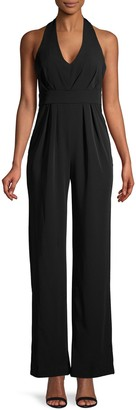 Laundry by Shelli Segal Pleated Halter Jumpsuit