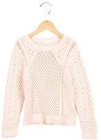 Chloé Girls' Cable Knit Crew Neck Sweater