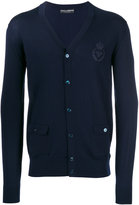 Dolce & Gabbana embroidered bee & crown cardigan - men - Wool - 46