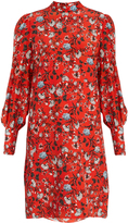 Erdem Mirela Convertine-print silk crepe de Chine dress