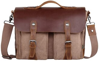 TSD BRAND Hudson Canvas Messenger Bag