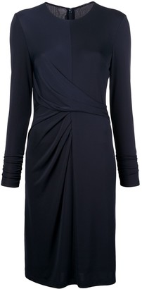 Elie Tahari Long-Sleeve Fitted Dress