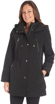 Fleet Street Women's Hooded Coated Anorak Jacket