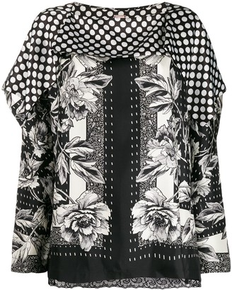 Antonio Marras Flower-Print Silk Blouse