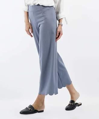 Lydiane Women's Casual Pants CEMENT - Cement Scallop-Hem High-Rise Crop Pants - Women & Plus