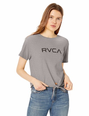 RVCA Women's Big Knot Front Cropped T-Shirt
