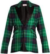 CHARLES JEFFREY LOVERBOY Pammy tartan contrast-lapel blazer