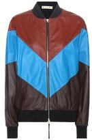 Marni Leather bomber jacket