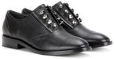 Balenciaga Embellished Leather Oxford Shoes