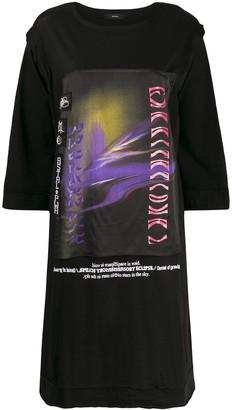 Diesel applique detail T-shirt dress