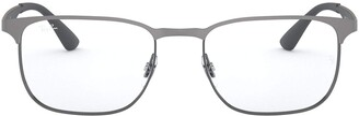 Ray-Ban RX6363 Square Metal Eyeglass Frames Non Polarized Prescription Eyewear