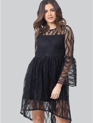 M&Co Izabel sheer lace skater dress