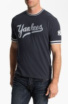 Red Jacket Men's 'New York Yankees' Trim Fit Ringer T-Shirt