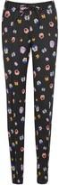 Christopher Kane Black Pansy-print Satin Trousers