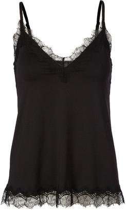 Rosemunde Black Strap Top with Elegant Lace - 36