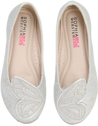 Sophia Webster Bibi Glittered Butterfly Ballerinas