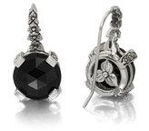 Stephen Dweck Black Agate Floral Drop Earrings