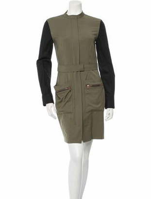 Cédric Charlier Trench Dress Olive