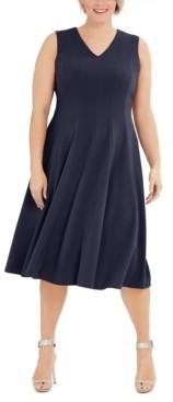 Calvin Klein Plus Size Fit & Flare Midi Dress