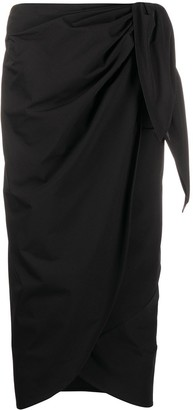 Maison Margiela Side Tie Wrap Midi Skirt