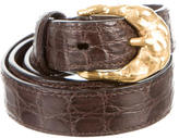 Tom Ford Crocodile Skinny Belt
