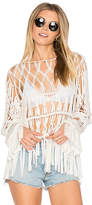 Show Me Your Mumu Dreamweaver Fringe Top in White. - size M (also in S,XS)