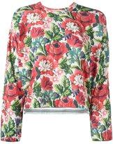 Comme des Garcons floral print longsleeved sweatshirt