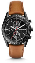 Michael Kors Accelerator Black-Tone Leather Watch