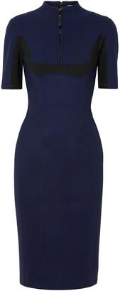 Thierry Mugler Zip-detailed Scuba Dress