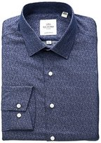 Ben Sherman Men's Paisley Printed Twill Spread Collar Dress Shirt