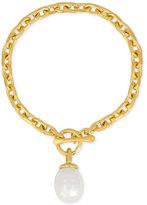 Majorica Gold-Tone Baroque Imitation Pearl Charm Bracelet