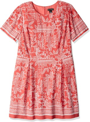Jessica Howard JessicaHoward Size Womens A-Line Elbow Sleeve Dress
