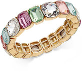 Charter Club Gold-Tone Multi-Stone Stretch Bracelet, Only at Macy's
