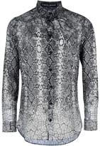 Frankie Morello snake print shirt