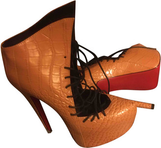 Christian Louboutin Camel Leather Ankle boots
