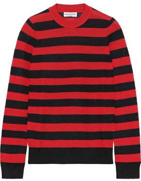 Sonia Rykiel Striped Open-knit Wool-blend Sweater