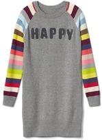 Gap Happy statement sweater dress