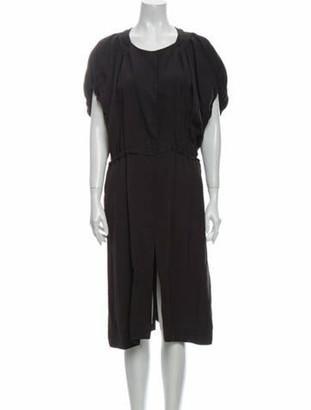 Marni Scoop Neck Midi Length Dress Grey