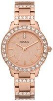 Fossil Jessie Rose Goldtone Glitz 3 Hand Stainless Steel Bracelet Watch