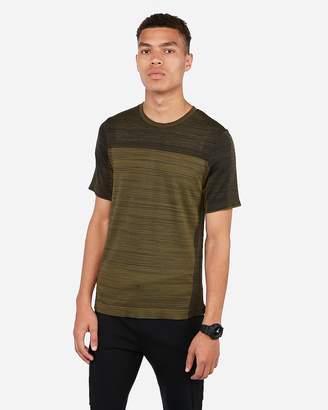 Express Seamless Mixed Print Crew Neck T-Shirt