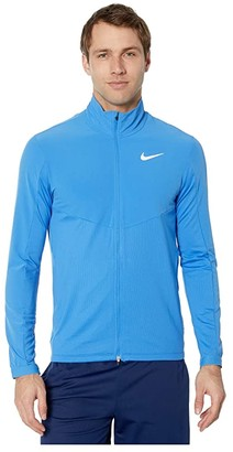 Nike Element Top Full Zip Hybrid (Pacific Blue/Reflective Silver) Men's Clothing