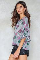 Nasty Gal Forget Me Not Floral Top